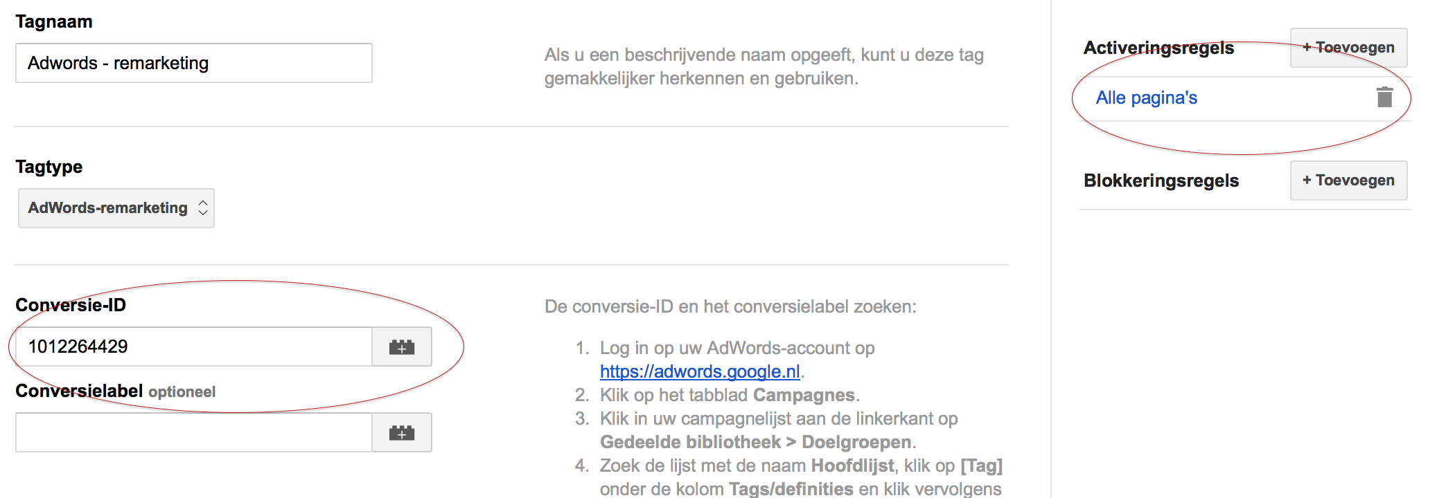 Remarketing met Tag Manager